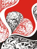 Floral Heart Design Stock Photo
