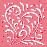 Floral heart design Stock Images