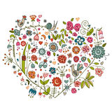 Floral heart. Stock Images