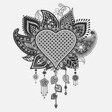 Floral heart - dream catcher Royalty Free Stock Photo