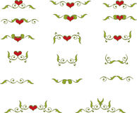 Floral heart elements Royalty Free Stock Photos
