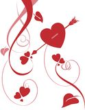 Floral Heart Embellishment Royalty Free Stock Photography
