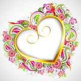 Floral Heart Frame Royalty Free Stock Photo