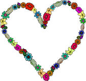 Floral Heart Frame Royalty Free Stock Images