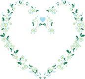 Floral heart frame Stock Image