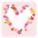 Floral heart frame Stock Images