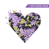 Floral Heart Graphic Design Royalty Free Stock Images