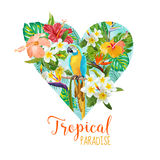 Floral Heart Graphic Design Royalty Free Stock Photography