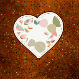 Floral heart with hand drawn flowers. EPS 8 Stock Photography
