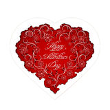 Floral heart with handwritten inscription Stock Image