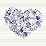 Floral heart. Heart made of flowers Stock Images