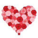 Floral Heart.  illustration Stock Image