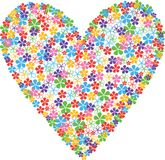 Floral heart isolate royalty free stock photo