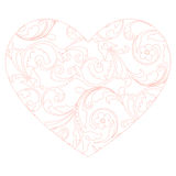 Floral heart pattern Royalty Free Stock Photo