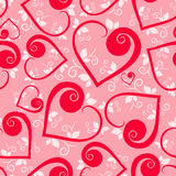 Floral heart Seamless pattern Royalty Free Stock Photography