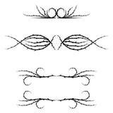 Floral heart separator vector. Flower, separator, floral, heart, text, divider, ornament, decoration, vector, design, modern, set, ornamental, element, line Royalty Free Stock Photo