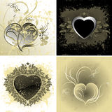 Floral heart set Stock Photos