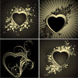 Floral heart set Royalty Free Stock Image