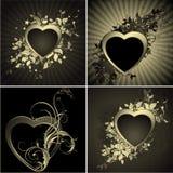 Floral heart set royalty free illustration