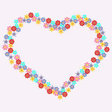 Floral heart-shape Stock Images