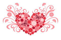 Floral heart shape  Stock Images