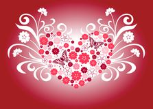 Floral heart shape Royalty Free Stock Photos