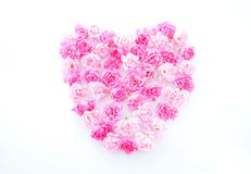 Floral heart shape Stock Photo