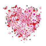 Floral heart shape Royalty Free Stock Image