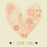 Floral heart shape. Stock Photography