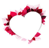 Floral heart shape made from leafs Royalty Free Stock Photos