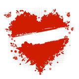 Floral heart shape, valentine royalty free illustration