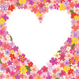 Floral heart-shaped frame Stock Photo
