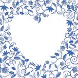 Floral heart shaped pattern Royalty Free Stock Photos