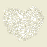 Floral heart wedding card  Stock Images