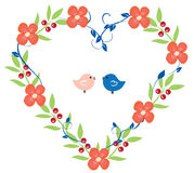 Floral Heart Wreath Royalty Free Stock Photo