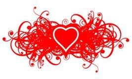 Floral_ heart02 lizenzfreie abbildung