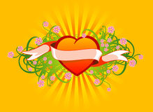 Floral_ heart05 Royalty Free Stock Image
