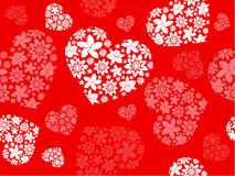 Floral hearts Royalty Free Stock Photography