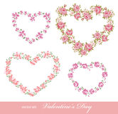 Floral hearts Stock Photography