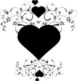 Floral hearts. A beautiful decorative floral heart pattern design Royalty Free Stock Photos
