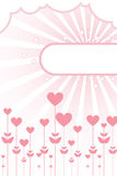 Floral hearts background with frame. A floral hearts background with a frame,  clouds and starbust.EPS file available Royalty Free Stock Image