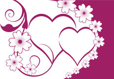 Floral hearts background Stock Image