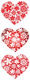 Floral hearts collection Royalty Free Stock Photography