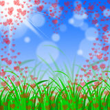 Floral Hearts Means Valentine Day And Affection Stock Photography