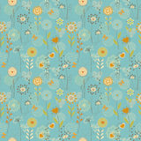 Floral hearts pattern Royalty Free Stock Photography