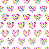 Floral hearts seamless background Royalty Free Stock Image