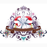 Floral Heat Gift Vector Design Stock Photography