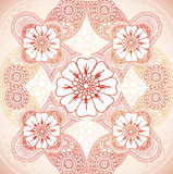 Floral Henna. Intricate hand drawn henna background Royalty Free Stock Image