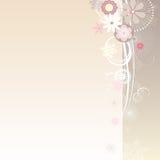 Floral hermoso y copos de nieve Imagen de archivo libre de regalías
