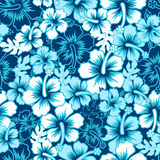 Floral hibiscus κυματωγών άνευ ραφής σχέδιο Στοκ φωτογραφία με δικαίωμα ελεύθερης χρήσης